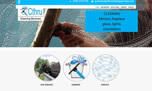 CThru Cleaning services website