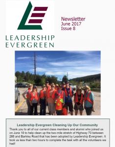 Leadership Evergreen Newsletter, June 2017