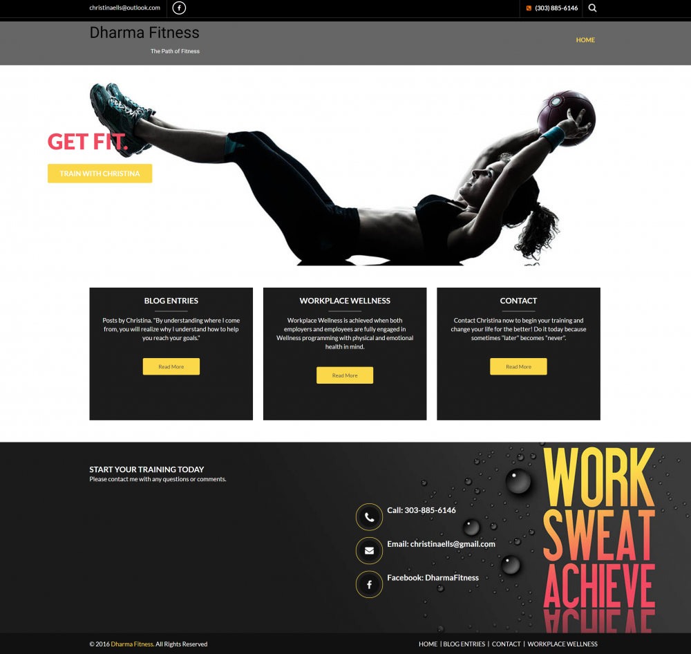 Sharma Fitness Website