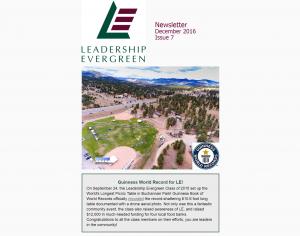 Leadership Evergreen Newsletter, December 2016
