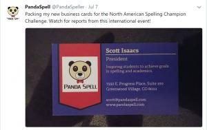 Panda Spell Social media post