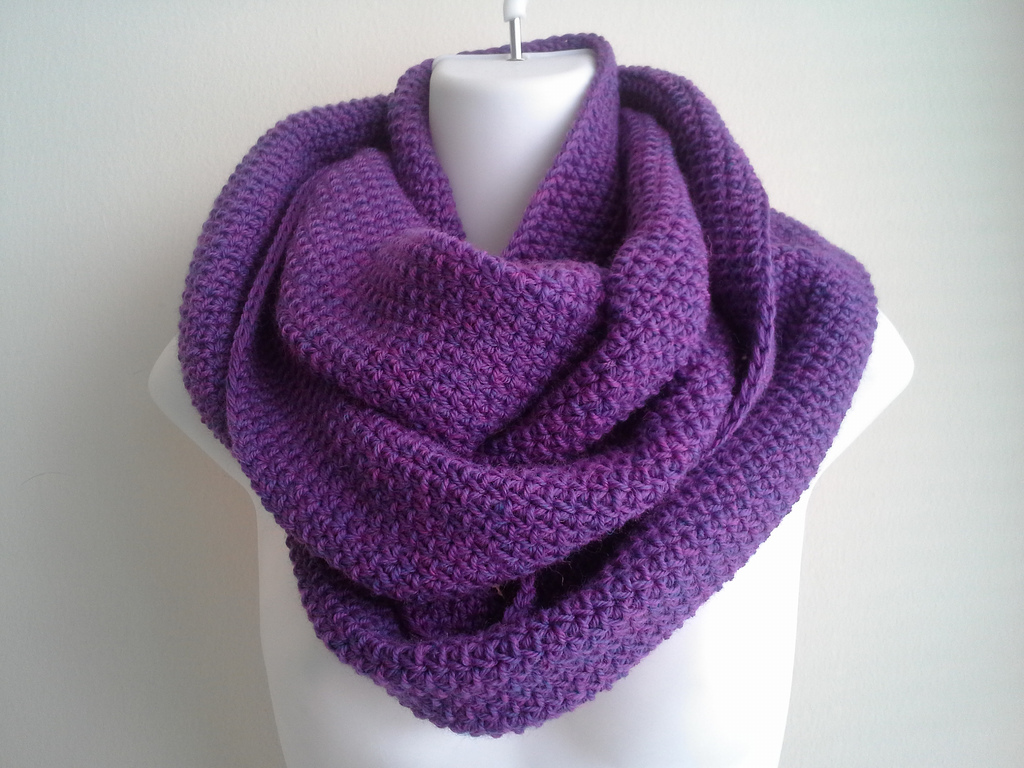 Purple scarf on a mannequin