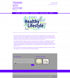 Training with Altitude Website
