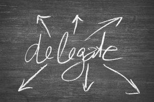Delegate, chalkboard image