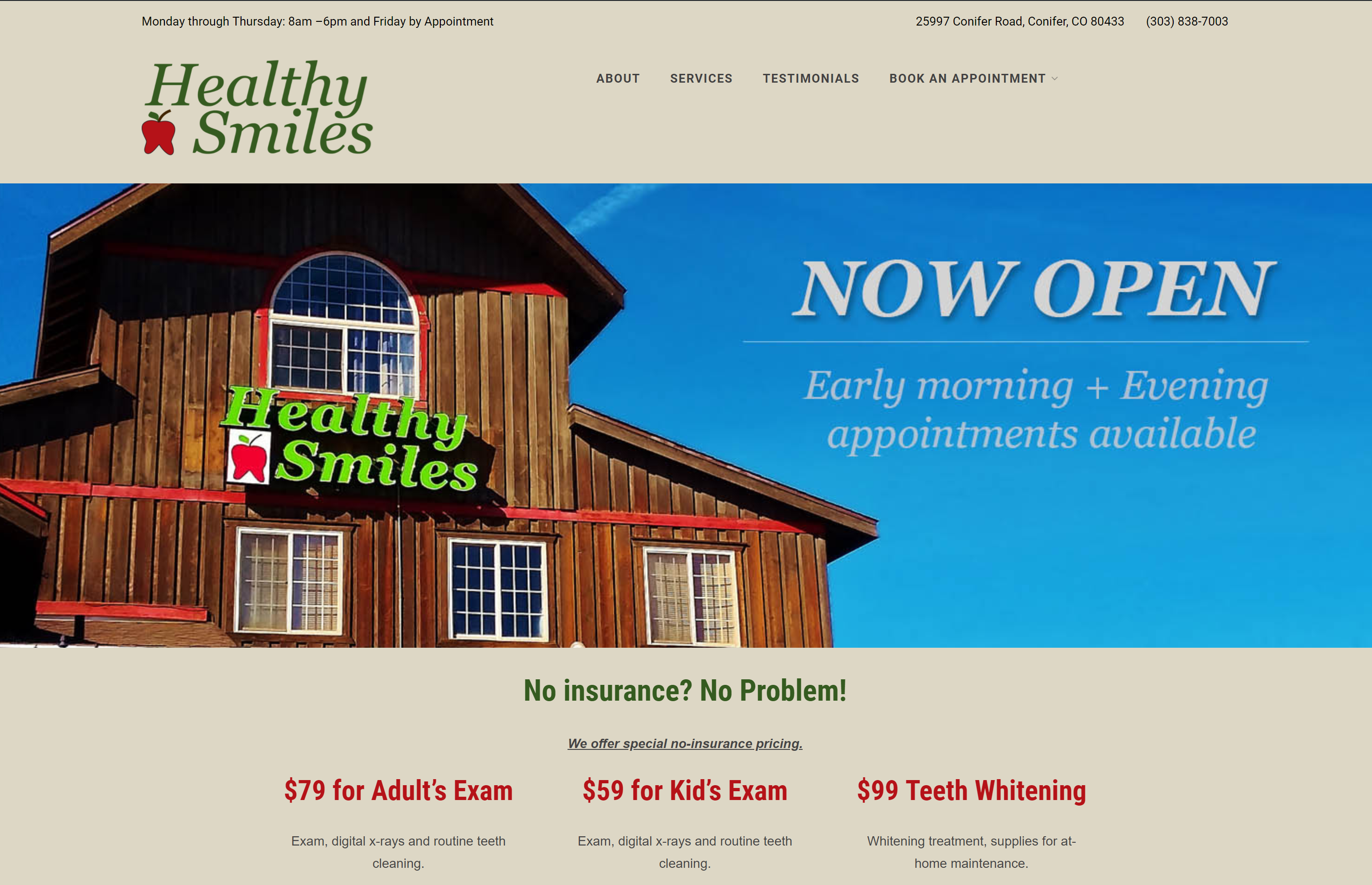 Healthy Smiles Website