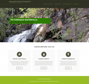 Website Maxwell Falls