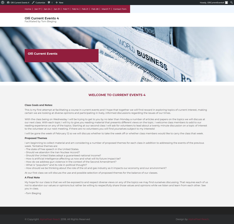 Olli Class Website