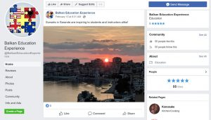 Balkan Education Experience Facebook Page