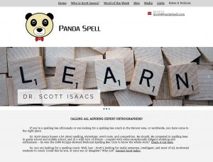 Panda Spell Webpage - Dr Scott Isaacs