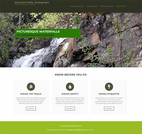 Maxwell Falls website