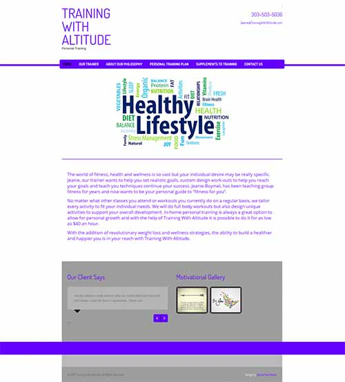 Health & Wellness Industry, Website Design