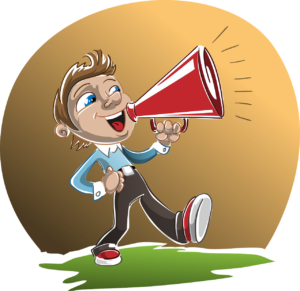 man with a megaphone image
