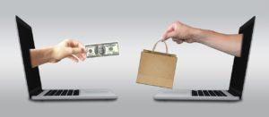 ecommerce money and goods exchange