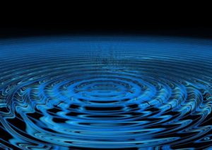 blue ripple with black background