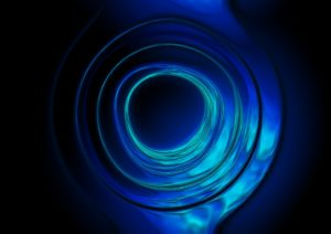 blue and teal glowing ripple