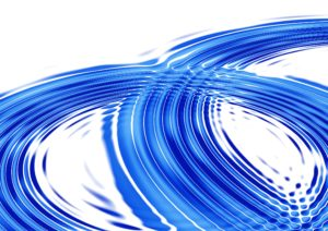 blue ripple with white background