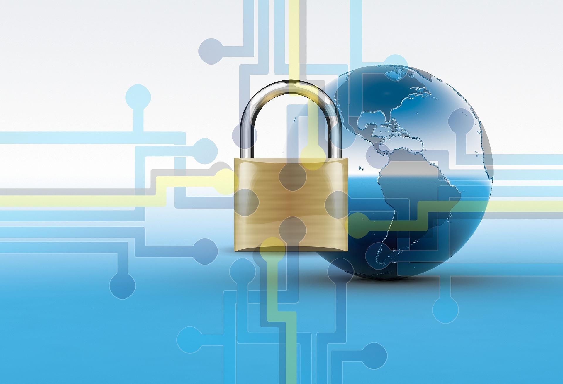 globe with lock